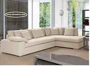 Бял ъглов диван със силиконов пух 1065