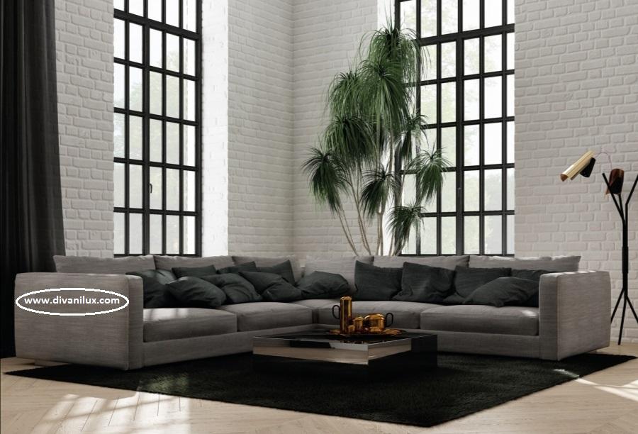 Ъглов диван с мемори пяна по поръчка 1058