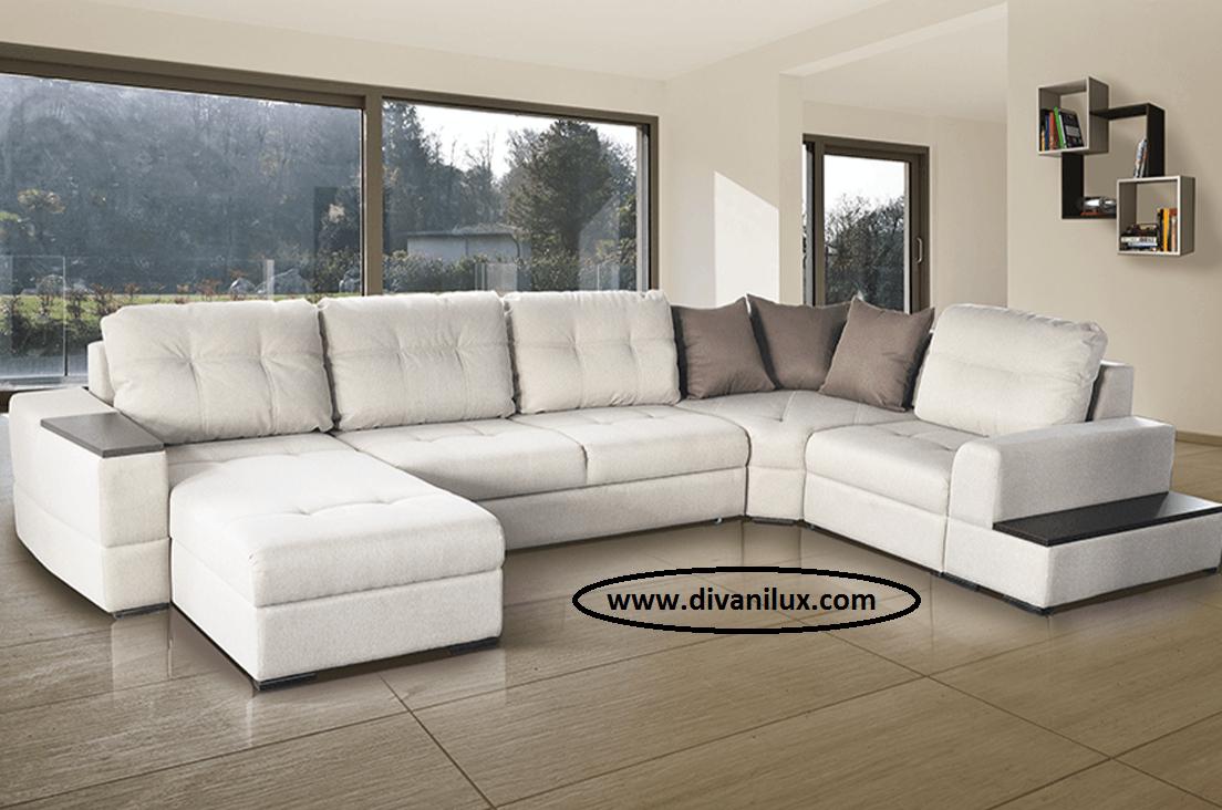 Пе-образен диван по поръчка 1059