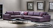 Лилав удобен пе-образен диван по поръчка 505