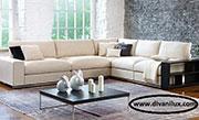 Ъглов диван в бежаво с мемори пяна по поръчка 507