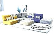 Модулен цветен диван по поръчка 511