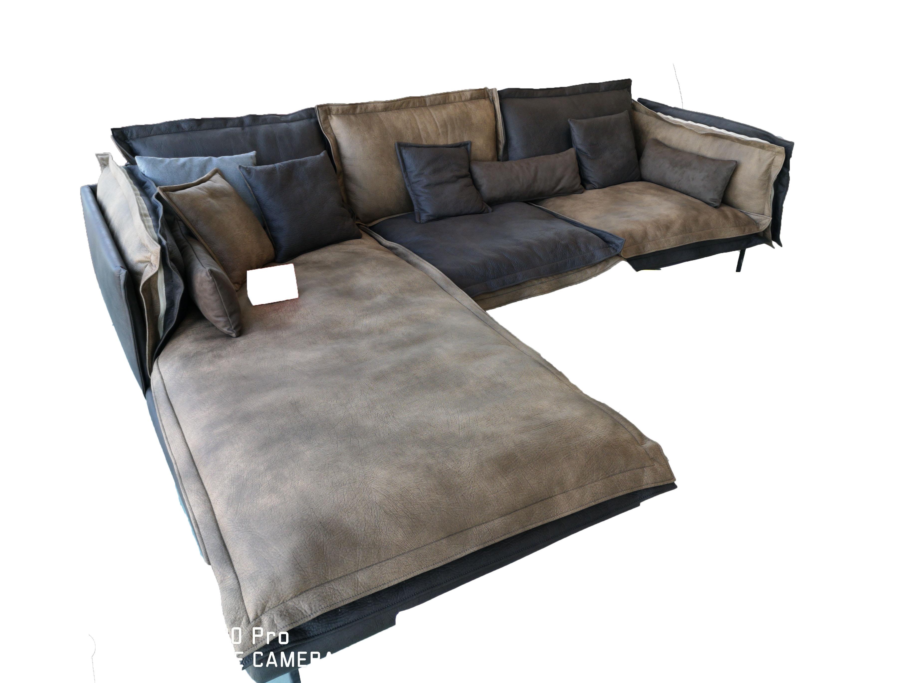 Двуцветен ъглов диван с италианси дунапрен