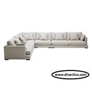 Ъглов диван с гъши пух по поръчка 523