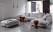 Удобен ъглов диван с табуретка 532