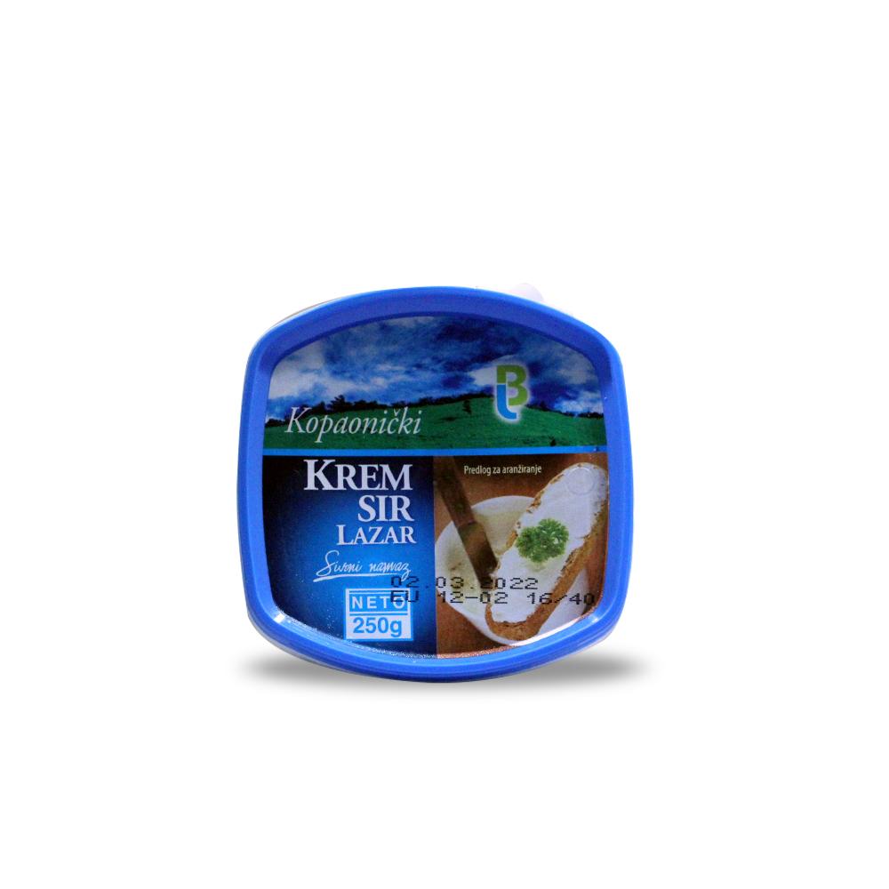 Крема сирене 250гр. Лазар