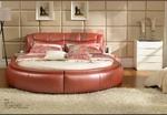 интериорен дизайн на спалня с кръгло легло