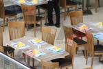 Основи за бар маса с квадратна основа за ресторант