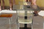 Различни височини стойки за маса с квадратна основа