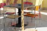 бази за маса с квадратна основа за заведение