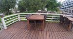 Универсален стол и маса от ратан за лятни заведения за всесезонно използване