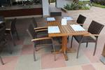 Универсален стол и маса от ратан на едро за всесезонно използване
