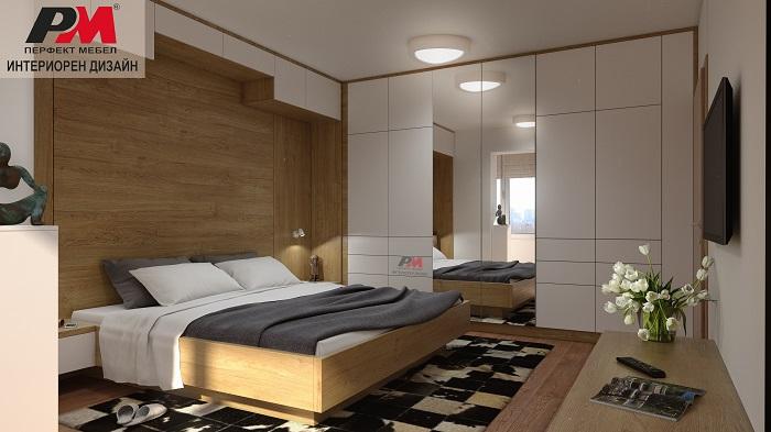Модерен и функционален интериорен дизайн на спалня със стилна визия