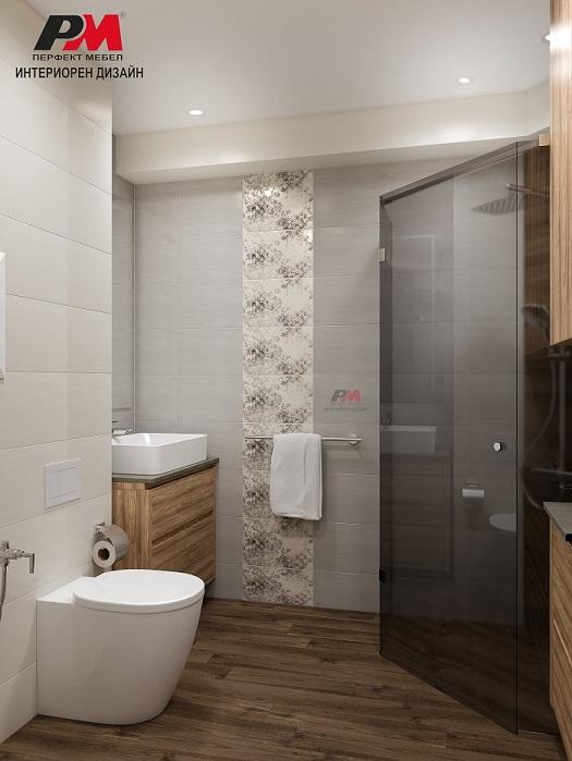 Модерна функционална баня с топло и уютно звучене