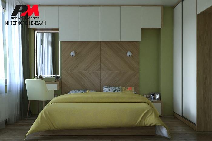Красив и практичен интериорен дизайн на спалня