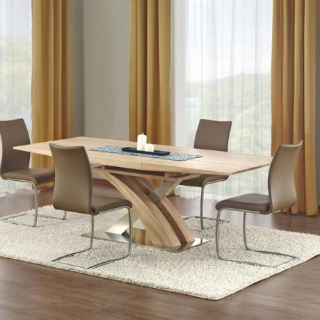 Луксозна дървена трапезна маса
