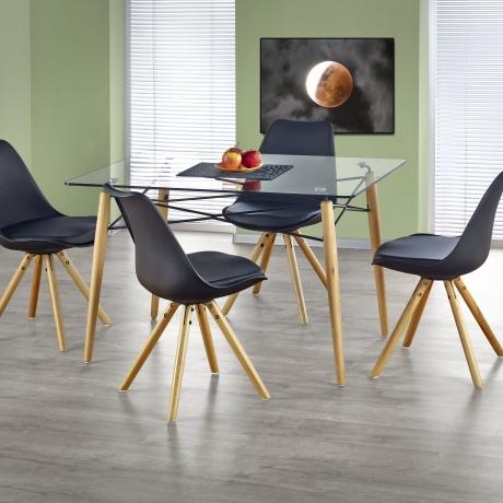 Модерен дизайн маса с прозрачно стъкло