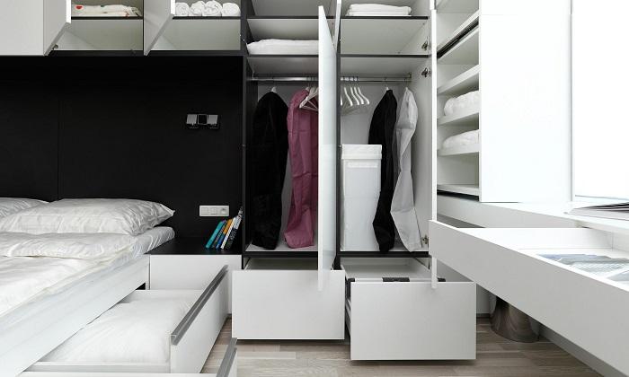 Функционалнен интериор в спалнята
