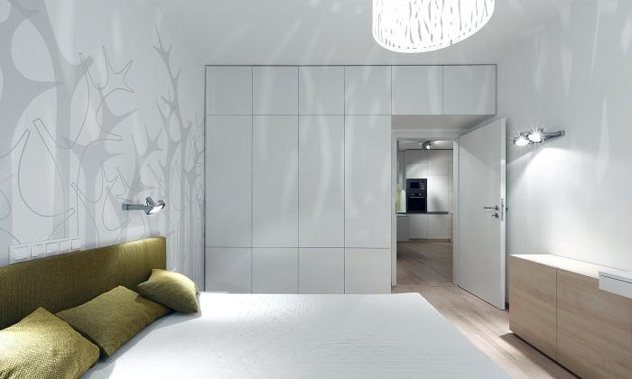 Стилен интериор модерна спалня