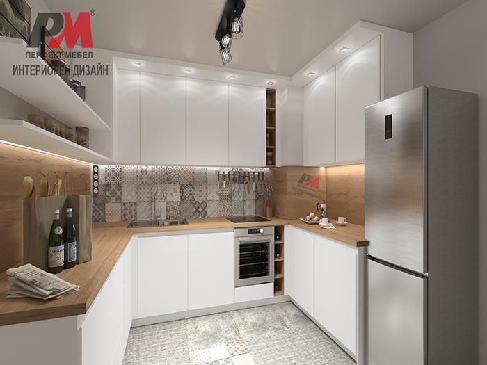 Елегантна и практична кухня в стил индустриален винтидж