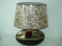 Лампа Ноблес с абажур злато/черно