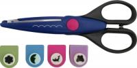 Комплект 4 броя детски пънчове (перфоратори) и ножица за декорация
