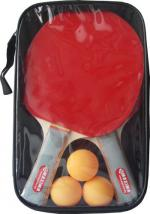 Хилки за тенис на маса комплект 2 броя с 3 топчета в калъф MAXIMA