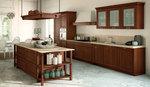 дизайнерски кухни с дървесна шарка