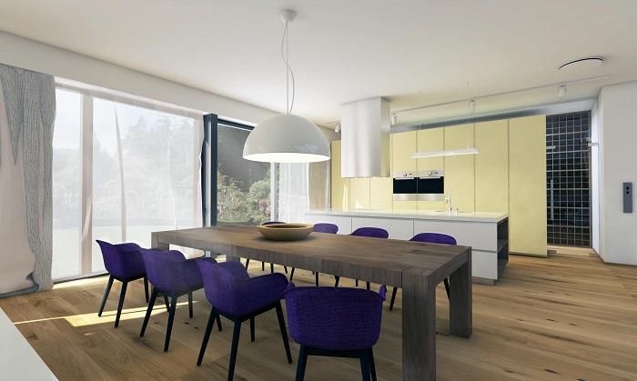 Трапезария с кухня стил и удобство