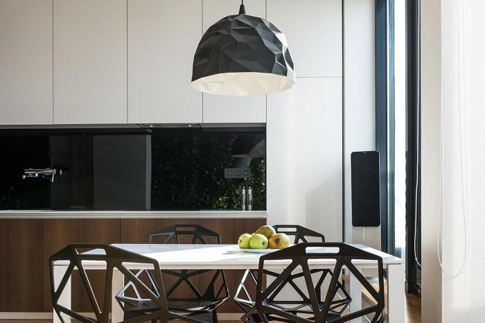 Кухня с трапезария модерен интериор