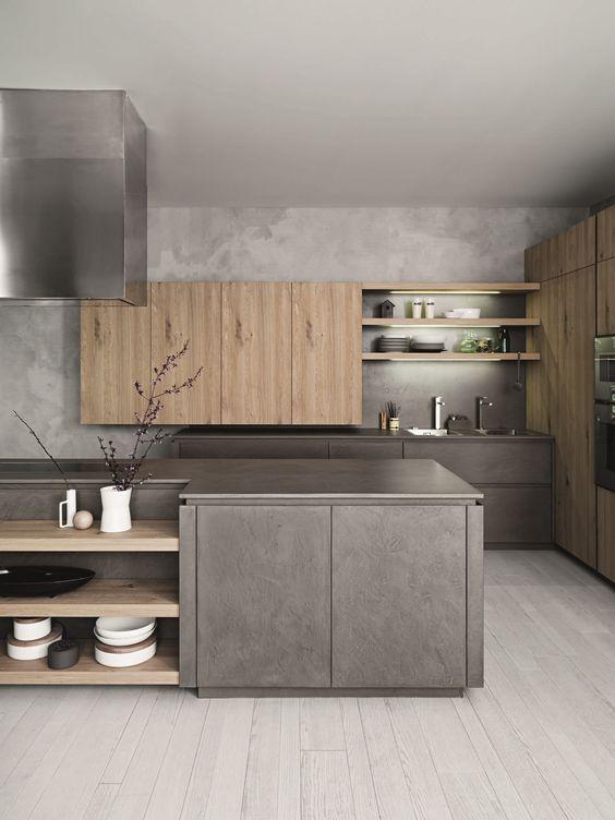 Дизайнерска ъглова кухня в съвременни материали