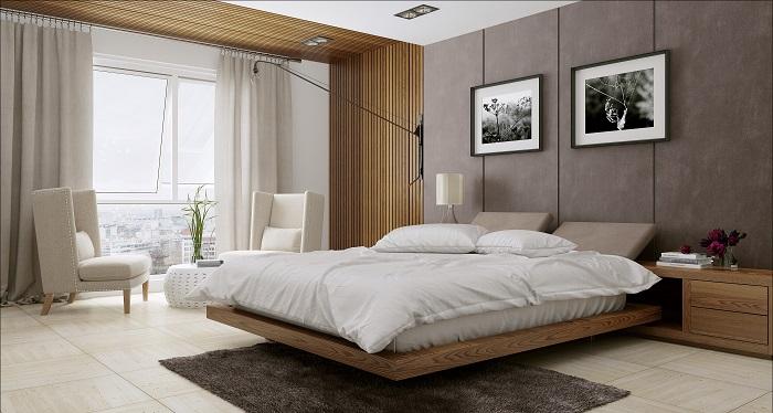 Спалня с лек привкус в стил японски минимъл