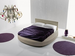 Кръгла спалня за правоъгълен матрак