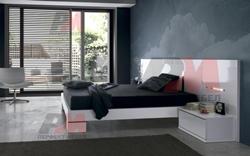 Спалня МДФ бял гланц