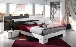Модерна спалня в бяло и черно