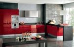матови кухни в червен цвят