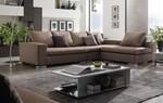 топкласна  ъглова мека мебел с ракла