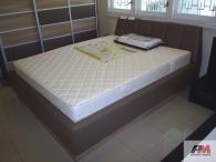 Легло тапицирано с еко кожа