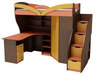 Обзавеждане детска стая в оранж и жълто за момче