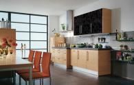 Кухненски мебели МДФ фолио за триастаен апартамент