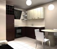 Кухня с вертикален аспиратор