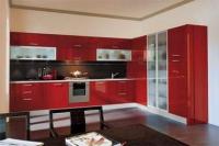 Кухня - червен гланц