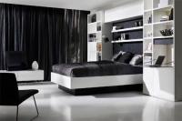 Спалня по поръчка от пдч в бяло и черно