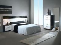 спален комплект в бяло и черно