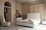 Луксозно бяло тапицирано легло