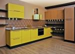 Кухня по поръчка жълт ПДЧ мат