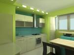 Модулни мебели за кухни ПДЧ мат в зелено