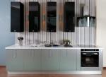 Проект на кухня с МДФ черен гланц