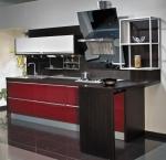 Кухненски мебли по поръчка МДФ мат в червено