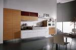 Кухненски мебели по поръчка МДФ фурнир дъб